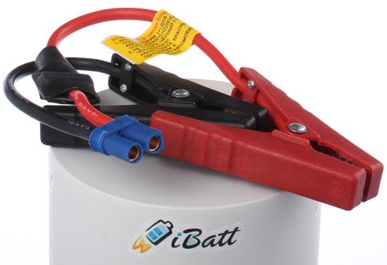 фотография силовых проводов iBatt JumpStarter.