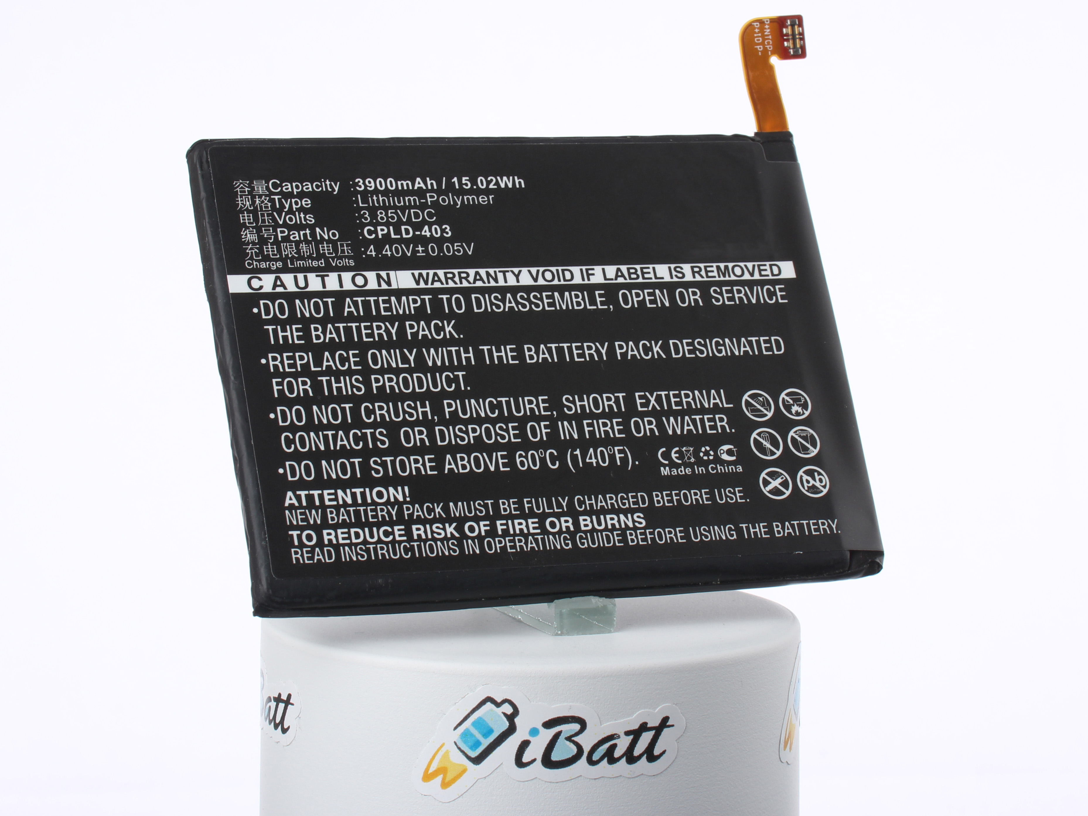 Аккумуляторная батарея CPLD-403 для телефонов, смартфонов Coolpad. Артикул iB-M1669.Емкость (mAh): 3900. Напряжение (V): 3,85