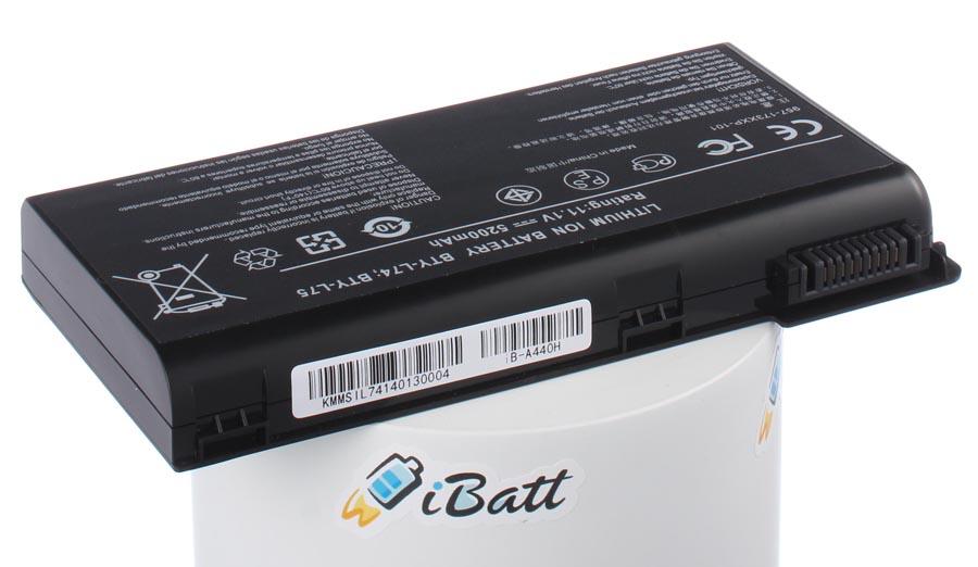 Аккумуляторная батарея 91NMS17LD4SU1 для ноутбуков MSI. Артикул iB-A440H.Емкость (mAh): 5200. Напряжение (V): 11,1