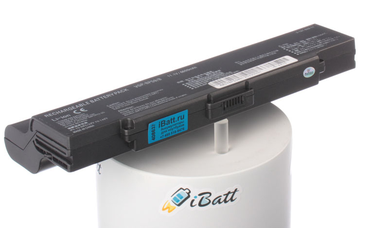 Аккумуляторная батарея VGP-BPS9A/B для ноутбуков Sony. Артикул iB-A476.Емкость (mAh): 6600. Напряжение (V): 11,1