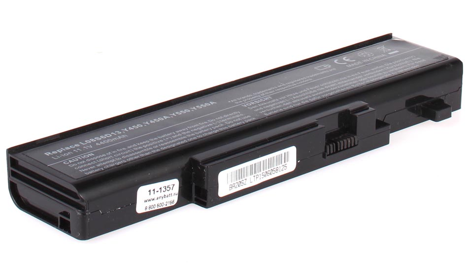 Аккумуляторная батарея L08S6D13 для ноутбуков IBM-Lenovo. Артикул 11-1357.Емкость (mAh): 4400. Напряжение (V): 11,1