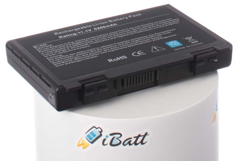 Аккумуляторная батарея для ноутбука Asus K40. Артикул iB-A145H.Емкость (mAh): 5200. Напряжение (V): 11,1