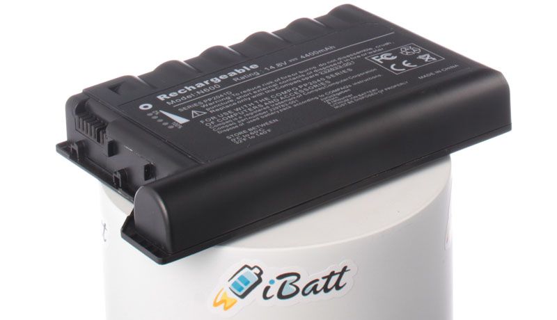 Аккумуляторная батарея для ноутбука HP-Compaq Evo N600. Артикул iB-A196.Емкость (mAh): 4400. Напряжение (V): 14,8