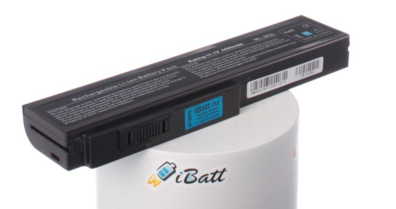 Аккумуляторная батарея для ноутбука Asus N52JN. Артикул iB-A160.Емкость (mAh): 4400. Напряжение (V): 11,1