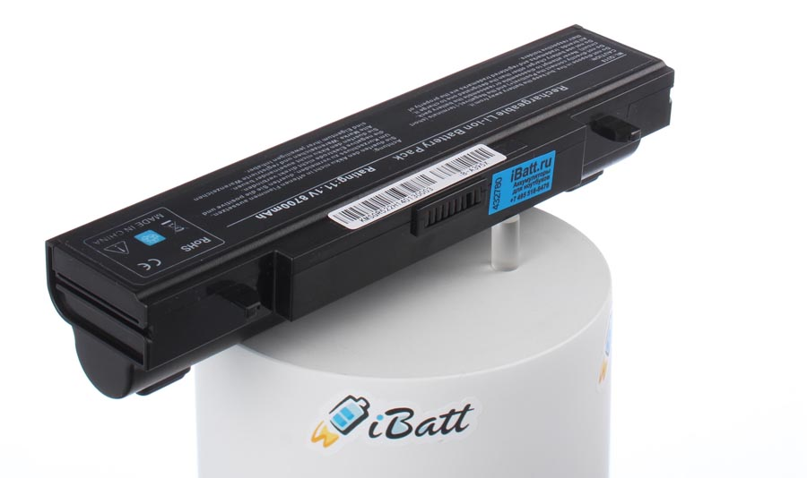 Аккумуляторная батарея iBatt iB-A395X для ноутбука SamsungЕмкость (mAh): 8700. Напряжение (V): 11,1