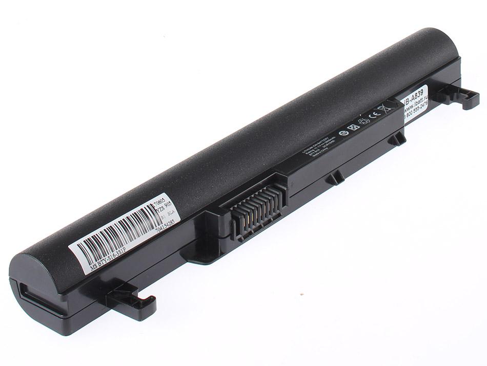 Аккумуляторная батарея для ноутбука MSI Wind U180-032. Артикул iB-A839.Емкость (mAh): 2200. Напряжение (V): 11,1