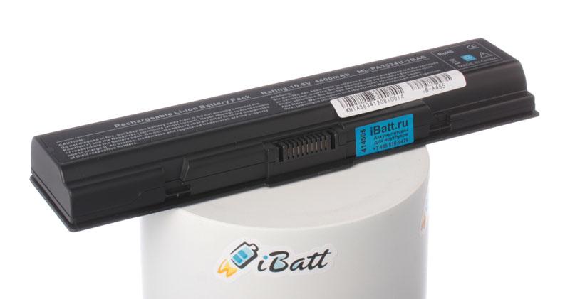 Аккумуляторная батарея iBatt iB-A455 для ноутбука ToshibaЕмкость (mAh): 4400. Напряжение (V): 10,8
