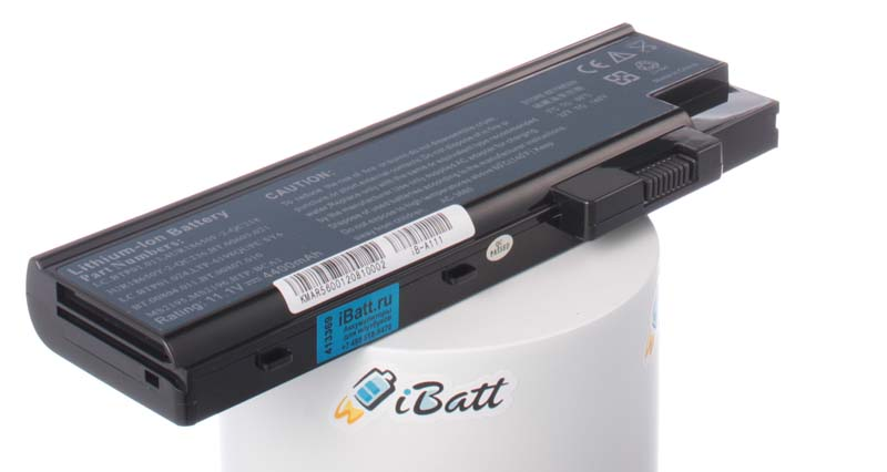 Аккумуляторная батарея для ноутбука Acer TravelMate 5623AWLMi. Артикул iB-A111.Емкость (mAh): 4400. Напряжение (V): 11,1