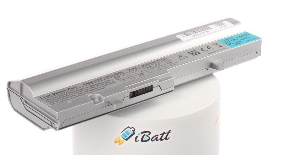 Аккумуляторная батарея iBatt iB-A881 для ноутбука ToshibaЕмкость (mAh): 6600. Напряжение (V): 10,8