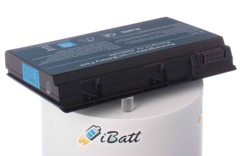 Аккумуляторная батарея для ноутбука Acer TravelMate 7520-6A1G12Mi. Артикул iB-A133H.Емкость (mAh): 5200. Напряжение (V): 11,1