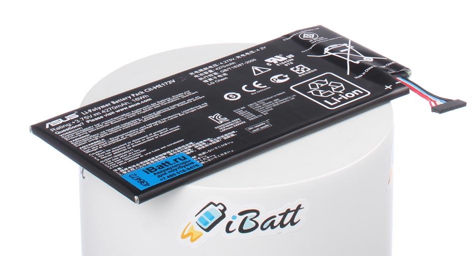 Аккумуляторная батарея C11-ME172V для ноутбуков Asus. Артикул iB-A654.Емкость (mAh): 4270. Напряжение (V): 3,75