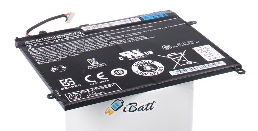 Аккумуляторная батарея BAT-1011 для ноутбуков Acer. Артикул iB-A642.Емкость (mAh): 10000. Напряжение (V): 3,7