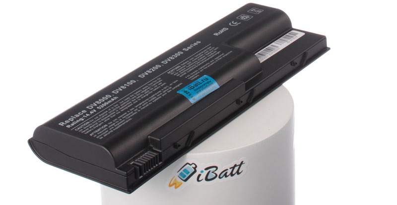 Аккумуляторная батарея для ноутбука HP-Compaq Pavilion dv8000. Артикул iB-A197H.Емкость (mAh): 5200. Напряжение (V): 14,4
