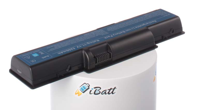 Аккумуляторная батарея для ноутбука Gateway NV5334U. Артикул iB-A129H.Емкость (mAh): 5200. Напряжение (V): 11,1