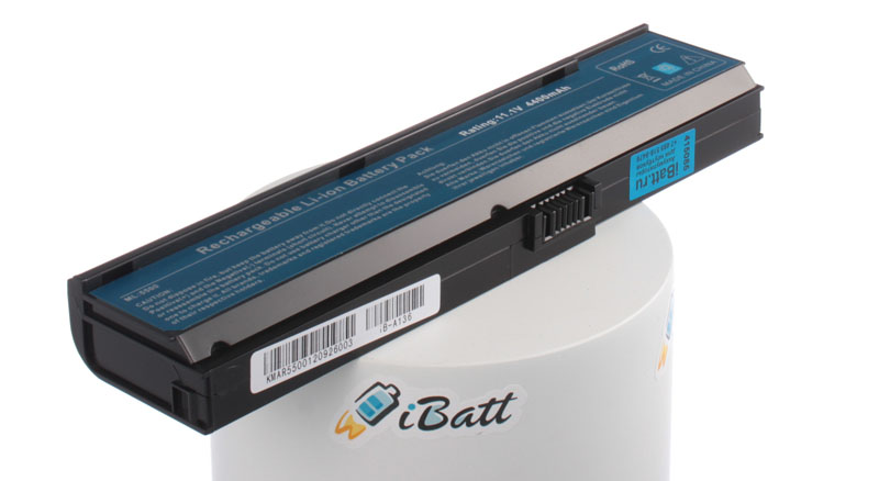 Аккумуляторная батарея для ноутбука Acer TravelMate 3213WXCi. Артикул iB-A136.Емкость (mAh): 4400. Напряжение (V): 11,1