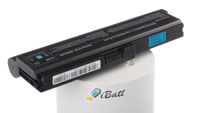 Аккумуляторная батарея iBatt iB-A571 для ноутбука ToshibaЕмкость (mAh): 6600. Напряжение (V): 10,8