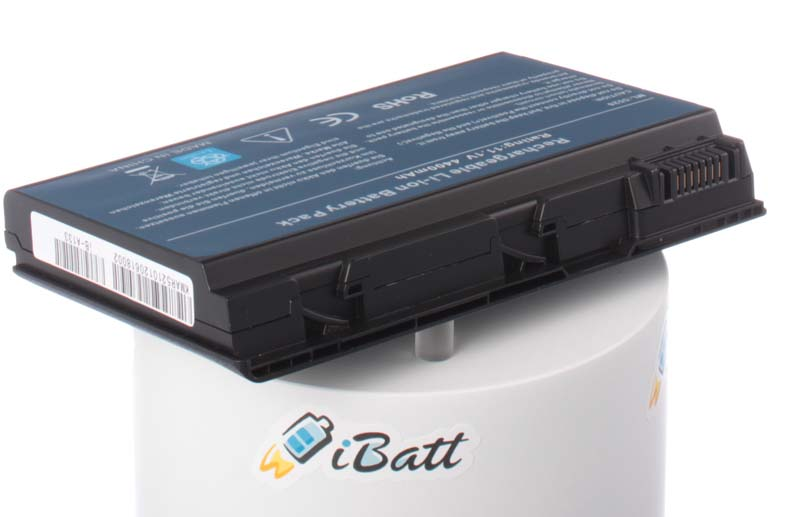 Аккумуляторная батарея для ноутбука Acer TravelMate 7720G-302G25Mi. Артикул iB-A133.Емкость (mAh): 4400. Напряжение (V): 11,1