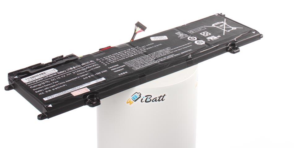 Аккумуляторная батарея для ноутбука Samsung NP880Z5E ATIV Book 8. Артикул iB-A965.Емкость (mAh): 6000. Напряжение (V): 15,1