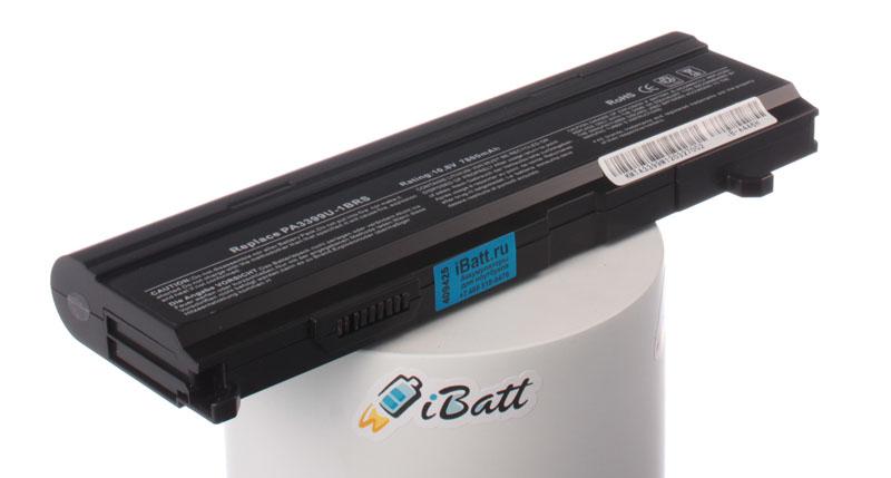 Аккумуляторная батарея PA3399U-2BRS для ноутбуков Toshiba. Артикул iB-A446H.Емкость (mAh): 7800. Напряжение (V): 10,8