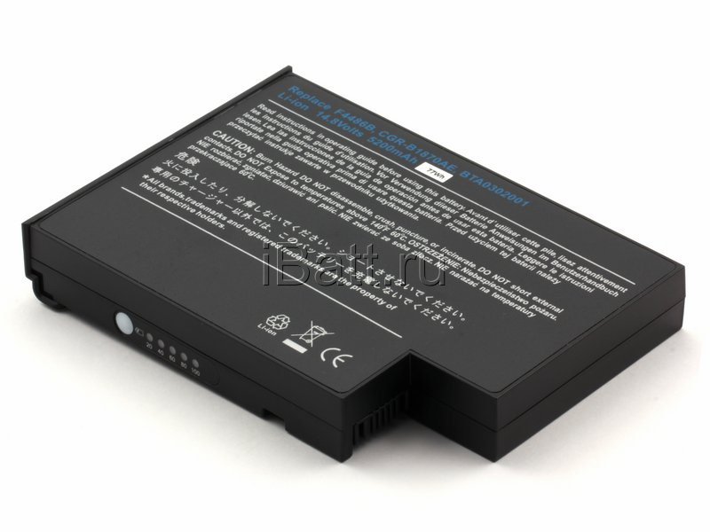 Аккумуляторная батарея 4UR18650F-2-QC-EW1 для ноутбуков Fujitsu-Siemens. Артикул 11-1518.Емкость (mAh): 4400. Напряжение (V): 14,8