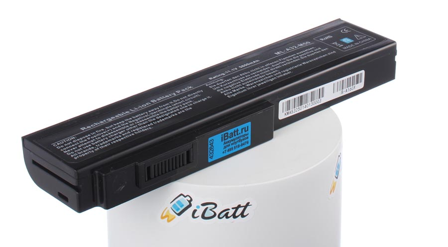 Аккумуляторная батарея для ноутбука Asus N52JG. Артикул iB-A160X.Емкость (mAh): 5800. Напряжение (V): 11,1