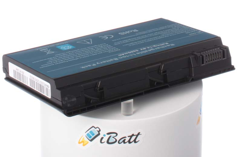 Аккумуляторная батарея для ноутбука Acer Travelmate 6592-5B1G12MI. Артикул iB-A134H.Емкость (mAh): 5200. Напряжение (V): 14,8