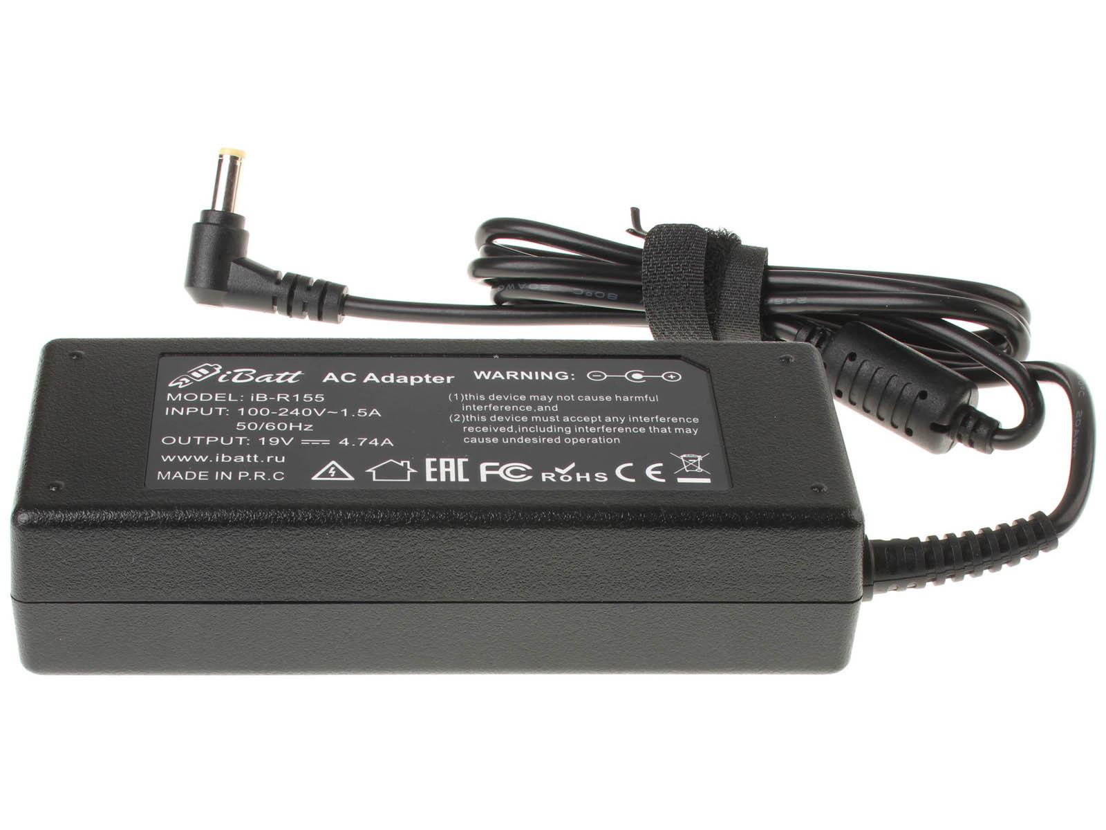 Блок питания (адаптер питания) AP.09001.023 для ноутбука eMachines. Артикул iB-R155. Напряжение (V): 19