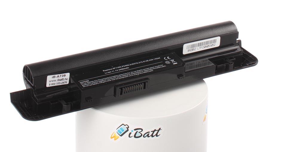 Аккумуляторная батарея iBatt iB-A739 для ноутбука DellЕмкость (mAh): 5200. Напряжение (V): 11,1