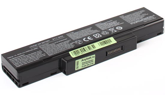 Аккумуляторная батарея для ноутбука MSI GT72S 6QD-205. Артикул 11-1229.Емкость (mAh): 4400. Напряжение (V): 11,1