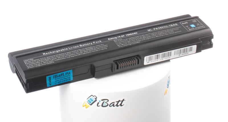 Аккумуляторная батарея PABAS112 для ноутбуков Toshiba. Артикул iB-A460H.Емкость (mAh): 7800. Напряжение (V): 10,8