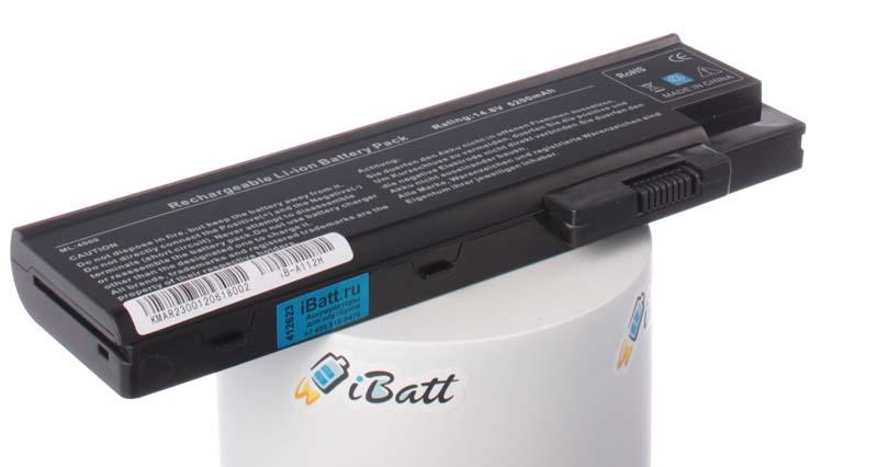 Аккумуляторная батарея для ноутбука Acer Aspire 1412LMi. Артикул iB-A112H.Емкость (mAh): 5200. Напряжение (V): 14,8