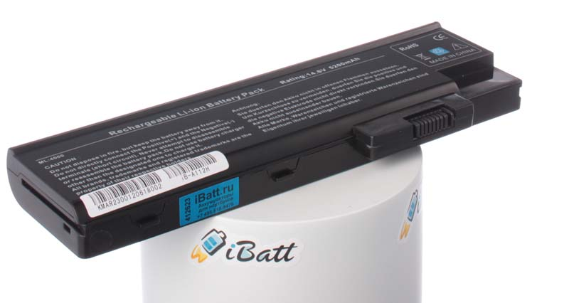 Аккумуляторная батарея для ноутбука Acer TravelMate 2302NLC. Артикул iB-A112H.Емкость (mAh): 5200. Напряжение (V): 14,8