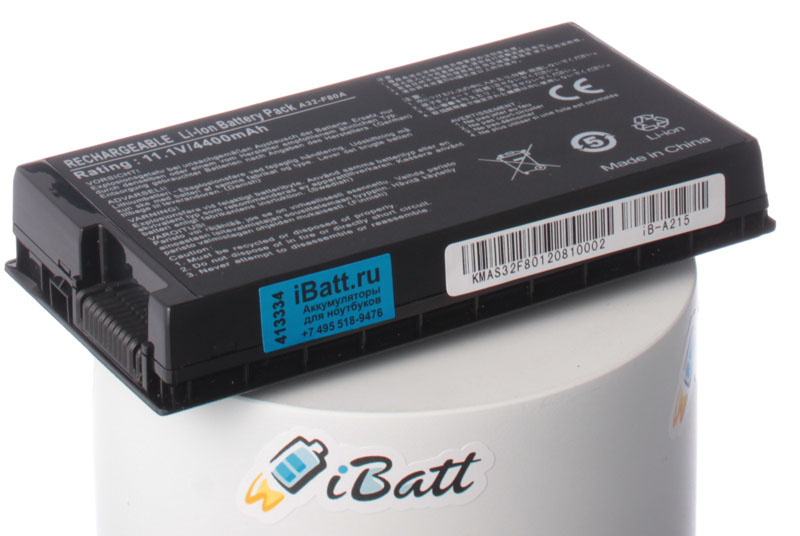 Аккумуляторная батарея iBatt iB-A215 для ноутбука AsusЕмкость (mAh): 4400. Напряжение (V): 10,8