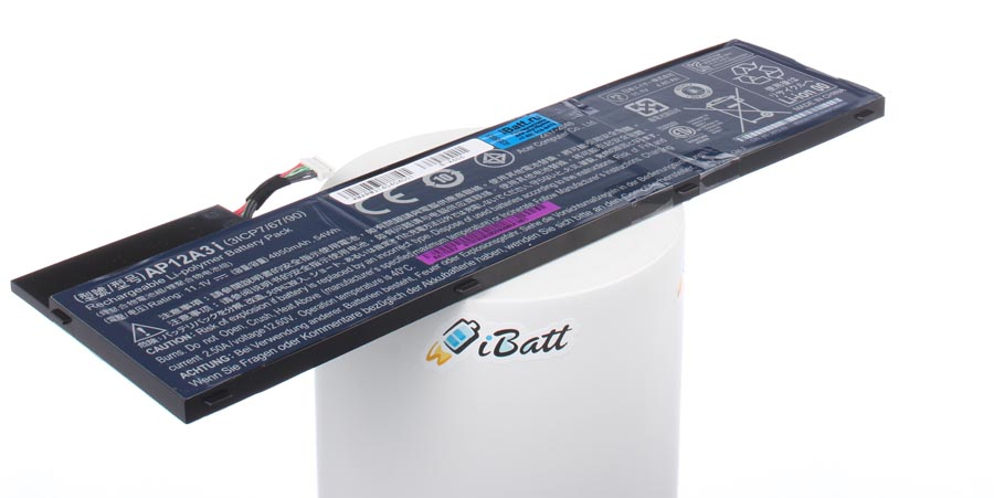Аккумуляторная батарея AP12A4i для ноутбуков Acer. Артикул iB-A606.Емкость (mAh): 4850. Напряжение (V): 11,1