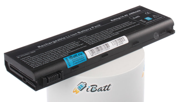 Аккумуляторная батарея iBatt iB-A448 для ноутбука ToshibaЕмкость (mAh): 4400. Напряжение (V): 14,4