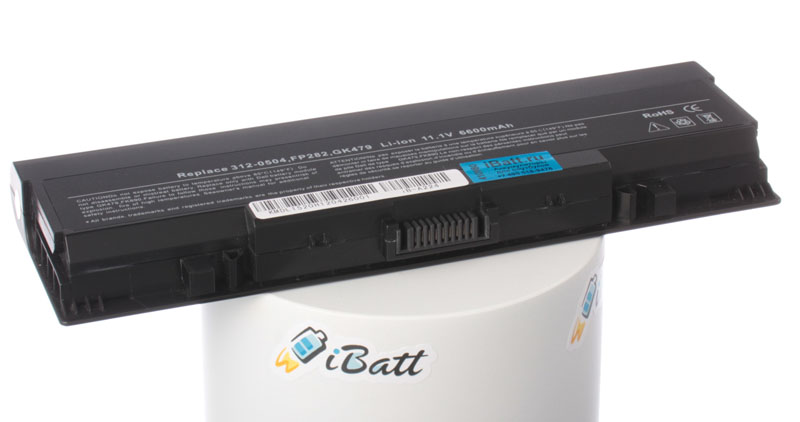 Аккумуляторная батарея для ноутбука Dell Vostro 1521. Артикул iB-A224.Емкость (mAh): 6600. Напряжение (V): 11,1