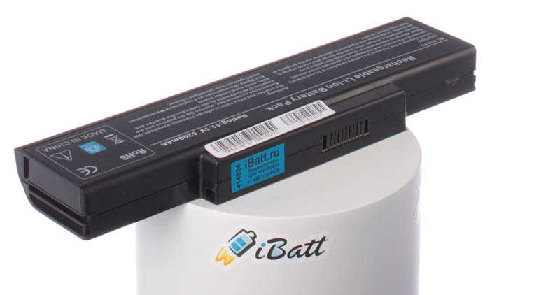 Аккумуляторная батарея для ноутбука Asus F3E. Артикул iB-A161H.Емкость (mAh): 5200. Напряжение (V): 11,1