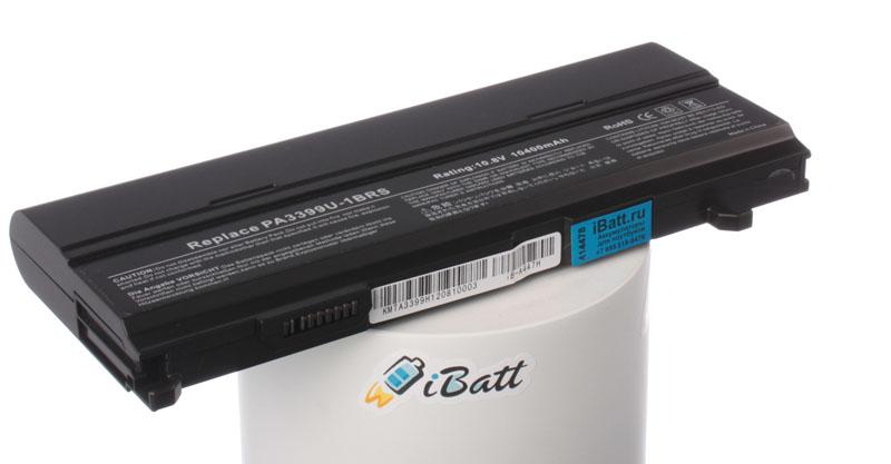 Аккумуляторная батарея iBatt iB-A447H для ноутбука ToshibaЕмкость (mAh): 10400. Напряжение (V): 10,8