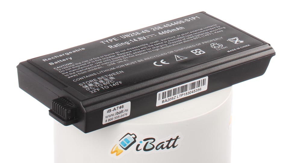 Аккумуляторная батарея UN258 для ноутбуков Uniwill. Артикул iB-A746.Емкость (mAh): 4400. Напряжение (V): 14,8