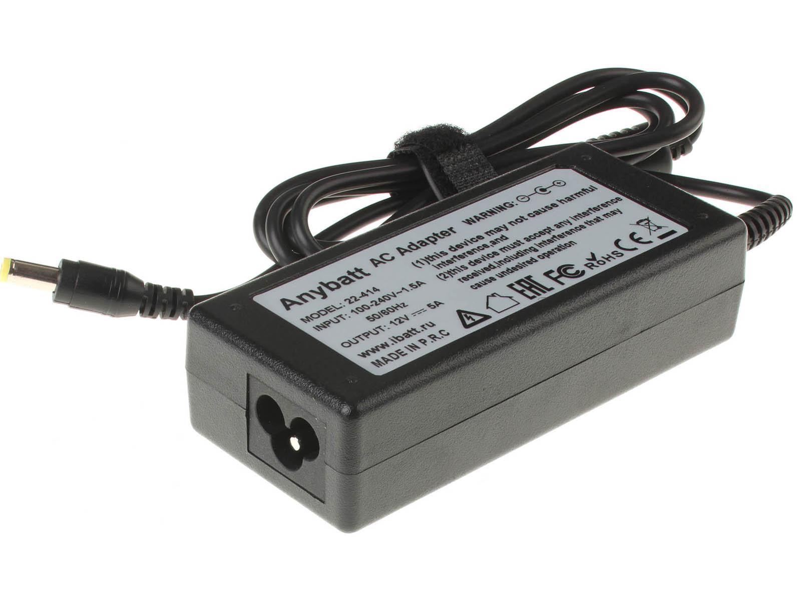 Блок питания (адаптер питания) AD7212G для ноутбука Acer. Артикул 22-414. Напряжение (V): 12