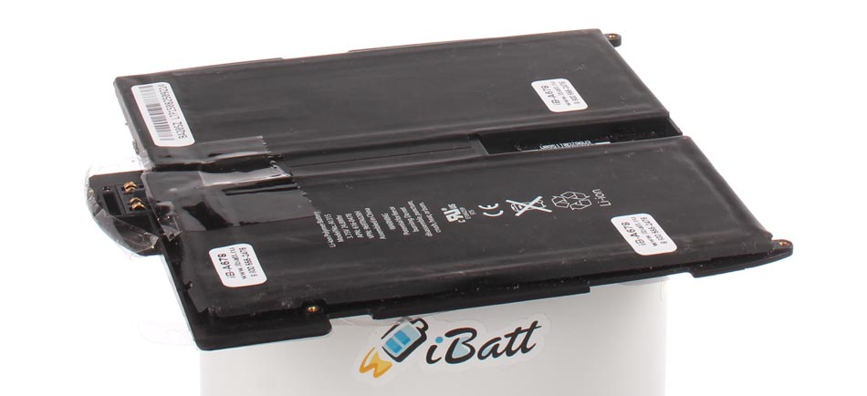 Аккумуляторная батарея для ноутбука Apple iPad 32GB Wi-Fi + 3G Black. Артикул iB-A678.Емкость (mAh): 5400. Напряжение (V): 3,7