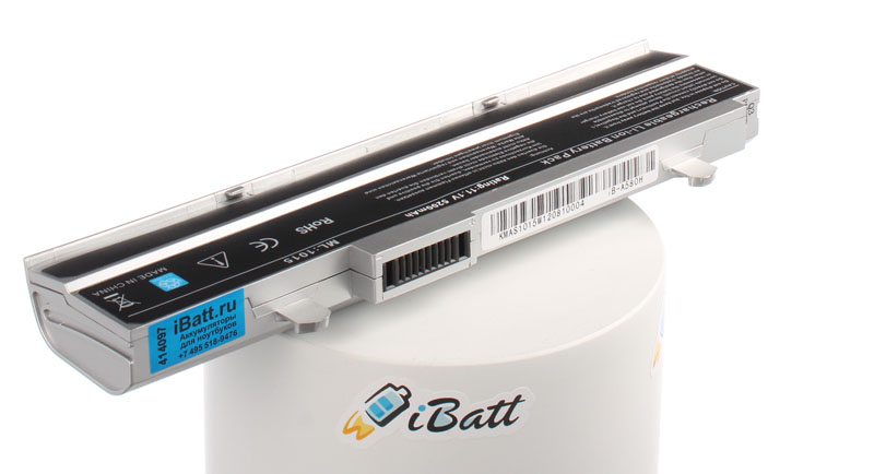 Аккумуляторная батарея для ноутбука Asus Eee PC 1016P. Артикул iB-A580H.Емкость (mAh): 5200. Напряжение (V): 11,1