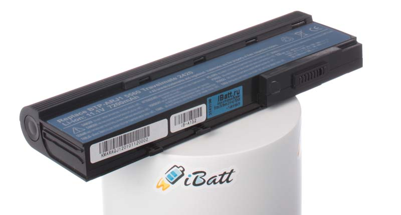 Аккумуляторная батарея для ноутбука Acer Travelmate 6293-842G25Mi. Артикул iB-A152.Емкость (mAh): 6600. Напряжение (V): 11,1