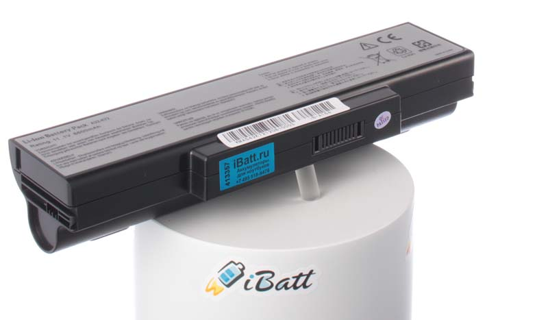 Аккумуляторная батарея для ноутбука Asus K73SJ. Артикул iB-A164.Емкость (mAh): 6600. Напряжение (V): 11,1