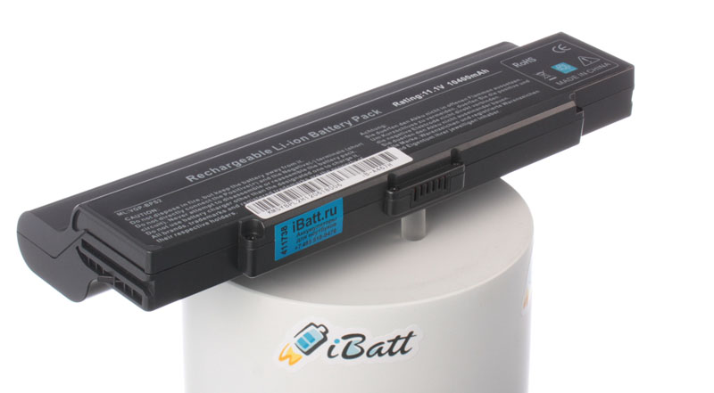 Аккумуляторная батарея VGP-BPL2C/S для ноутбуков Sony. Артикул iB-A467H.Емкость (mAh): 10400. Напряжение (V): 11,1