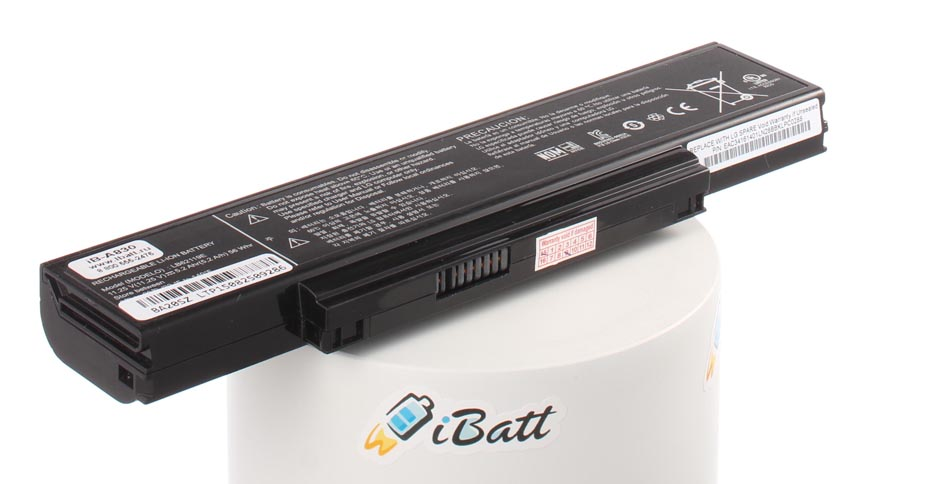 Аккумуляторная батарея LB62119E для ноутбуков LG. Артикул iB-A830.Емкость (mAh): 5200. Напряжение (V): 11,25