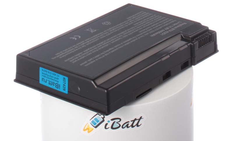Аккумуляторная батарея для ноутбука Acer TravelMate 4405WLMi. Артикул iB-A147.Емкость (mAh): 4400. Напряжение (V): 14,8