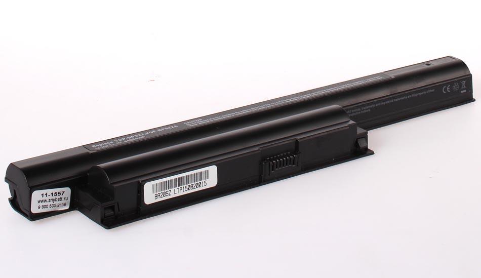 Аккумуляторная батарея iBatt 11-1557 для ноутбука SonyЕмкость (mAh): 4400. Напряжение (V): 11,1