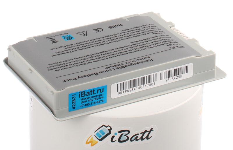 Аккумуляторная батарея M8760 для ноутбуков Apple. Артикул iB-A425H.Емкость (mAh): 5200. Напряжение (V): 11,1