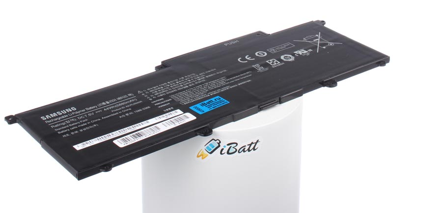 Аккумуляторная батарея для ноутбука Samsung 900X3C. Артикул iB-A631.Емкость (mAh): 5200. Напряжение (V): 7,4